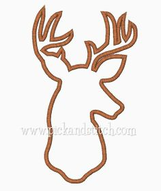 Deer Silhouette Applique Design - Pick & Stitch