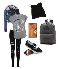 """""""Untitled #1"""" by nemesviki ❤ liked on Polyvore featuring Miss Selfridge, LE3NO, Vans and George J. Love"""