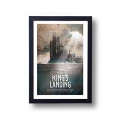 Game of Thrones Poster, Game of Thrones Gift, Game of Thrones Art, House Stark Art, Kings Landing Art, Kings Landing, Game of Thrones Map by DreamMachinePrints on Etsy https://www.etsy.com/listing/188251689/game-of-thrones-poster-game-of-thrones