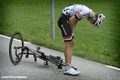Saint-Gervais - France  - wielrennen - cycling - radsport - cyclisme -  val-chute-crash Tom Dumoulin (NED-Giant-Alpecin)   pictured during stage 19 of the 2016 Tour de France from Albertville to Saint-Gervais, 146.00 km - photo Cor Vos © 2016