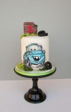 New Cars Birthday Party Cake Disney Kids Ideas Cake Decorating For Beginners, Creative Cake Decorating, Cupcakes Decorating, Decorating Tips, Birthday Cake 30, Cars Birthday Parties, Fondant Cakes, Cupcake Cakes, Fondant Bow