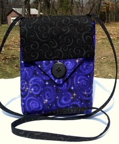 Purple and Black Celestial Purse Style by babygirlscreations, $28.00