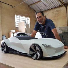 [Model] VW Concept 3d printed model. #design101trends . Swipe Left ⬅️⬅️ to see more details. . . Designed by @guina06 Modelled @morita_auto_design @wilson_sanchez_designer . . . Via @design101trends