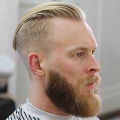 Want a straighter beard? Check out the best straight beard styles and learn how to achieve them (even if you have a curly beard!) with beard straightening products like beard balm and beard straightening combs and brushes. Undercut Men, Undercut Hairstyles, Cool Hairstyles, Blonde Hairstyles, Man Haircut 2017, Fade Haircut, Cool Haircuts, Haircuts For Men, Trending Haircuts