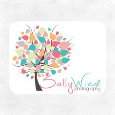 Blowing Away Tree Logo and Watermark...Pre made logo design..Photography Logo - L01201221. $65.00, via Etsy.