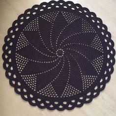 Diy Crochet Rug, Crochet Doily Patterns, Crochet Doilies, Free Crochet, Coasters, Rugs, Knitting, Pasta, Crochet Doily Rug