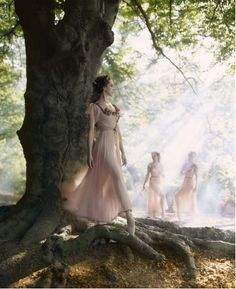 If I have bridesmaids and photography done, this is the kind of pictures I want, haha. I want elvish maids dancing in the woods!