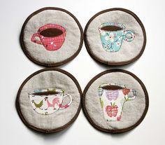 Farmdale Coasters made by Veronica Koh Eischeid