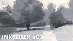 Gouache Painting of a Tree & Pathway: Paint with Me - 02 Inktober In this video for Inktober I used black and white gouache paint for a landscape. Value Painting, White Gouache, Gouache Painting, Learn To Paint, Pathways, Art Blog, Inktober, Landscape Paintings, Light Colors