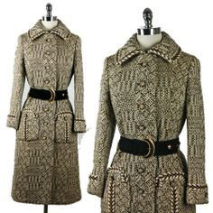 Vintage 1950s to 1960 elegant wool coat. Go to http://thisweekslook.com/tag/lilli-ann/ to see more amazing coats.