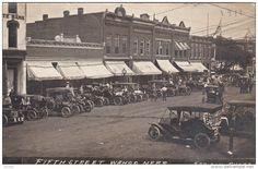 RP : 1911 - 5th Street , WAHOO , Nebraska - GREAT VINTAGE CARS & storefronts - Delcampe.com