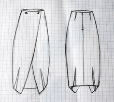 Pattern for wrapskirt LARGO