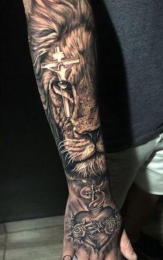 40 Photos lion tattoos [Female and male] # 2 - Top Tattoos Lion Forearm Tattoos, Lion Head Tattoos, Tattoos Arm Mann, Mens Lion Tattoo, Forarm Tattoos, Cross Tattoo For Men, Arm Tattoos For Guys, Bicep Tattoo, Leg Tattoos