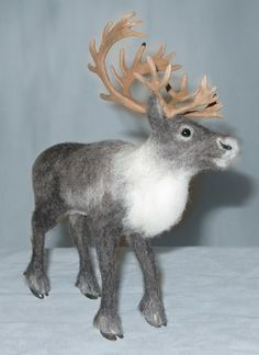 Free Shipping Needle Felted Reindeer Highly by NatureinWool