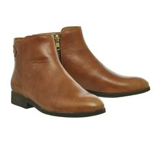 Buy Tan Leather Office Intro Back Strap Boot from OFFICE.co.uk.