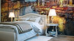 Would you like a painted wall in your bedroom? #painted, #design