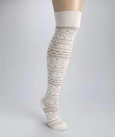 c1fb9fe74912 Take a look at this White Trish Over-the-Knee Socks - Women by