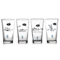 Look what I found at UncommonGoods: Bad Dog Tumblers for $35.00