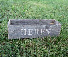 Herb Planter - Reclaimed Wood Box for Herbs - Garden Decor on Etsy, $15.00