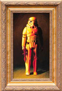 Stormtrooper (Vintage Star Wars Figure Oil Painting) | By: Mats Gunnarsson | #starwars #stormtrooper #starwarsfanart