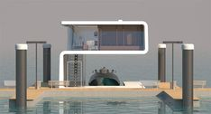 VIP Floating Home With Yacht Dock by Hyun Seok Kim