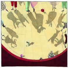 Illustration originale de Isabelle Chatellard - Zoé en retard | Oeuvres | Galerie Robillard