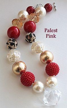 Cheetah Christmas chunky necklace. $30.00, via Etsy.