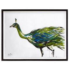 "Jonathan Adler Snyder-phillips ""muticus"" Framed Sumi Ink Painting in Jenna Snyder-phillips - love the colors"