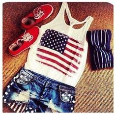 Merica. I WANT this outfit