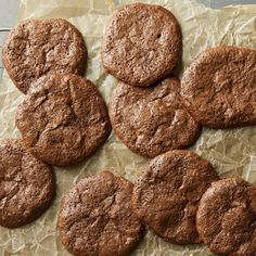 These flourless cookies get their volume from whipped egg whites (like a meringue) instead of grains, making them gluten-free and melt-in-your-mouth delicious. A chocolate chip in each bite adds to the rich chocolate flavor.