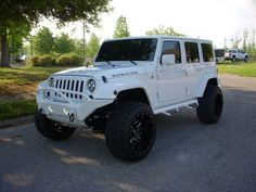 2012 WHITE JEEP WRANGLER RUBICON - MY ROCKY MTN WHEELS...