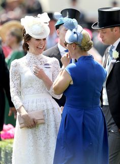 The royal pair, who are both mothers to young children, no doubt enjoyed the opportunity to catch up at the racing festival
