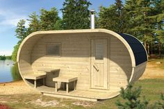 NEW Two Room Oval Camping Pod / Cabin - Glamping Pod for Campsite / Holiday Park Saunas, Vestibule, Design Sauna, Barrel Sauna, Tubs For Sale, Camping Pod, House Design Pictures, Outdoor Living, Outdoor Decor