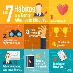 Los 7 hábitos de la gente altamente efectiva  #infografía