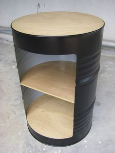 Garage Furniture, Car Part Furniture, Barrel Furniture, Automotive Furniture, Automotive Decor, Pallet Furniture, Furniture Design, Oil Barrel, Metal Barrel