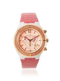 Versace Women's 28CCP15D111 S111 Cruise Rose Gold IP Pink Topaz Watch at MYHABIT