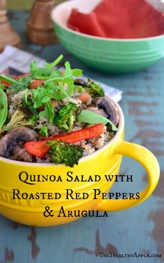 Quinoa Salad with Roasted Red Peppers & Arugula
