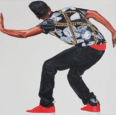 Fahamu Pecou is a contemporary American artist whose work provides critical observations on hip-hop, pop culture and black masculinity Famous Black Artists, Grand Format, Portraits, Photorealism, Best Artist, Popular Culture, American Artists, African Art, Oeuvre D'art