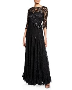 Rickie Freeman for Teri Jon Lace Overlay Gown Sequin Gown, Beaded Gown, Women's Evening Dresses, Plus Dresses, Designer Gowns, Formal Gowns, Lace Overlay, Mother Of The Bride, Clothes For Women
