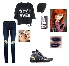 """""""Just a whatever day"""" by rileykay13 ❤ liked on Polyvore featuring Frame Denim, Converse and Laundromat"""