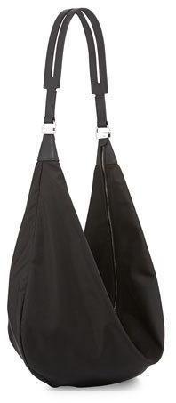 THE ROW Sling 15 Nylon Hobo Bag, Black