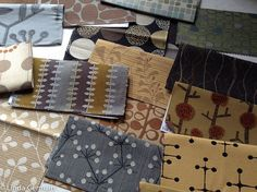 Fabric samples to inspire tools for printmaking
