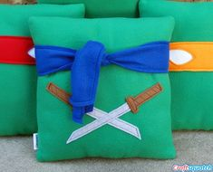 TMNT!- rayne wants a ninja turtle room. i think i can soooo make these. :)