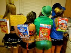 Sexy Cereal Box Characters Group Costume... This website is the Pinterest of costumes