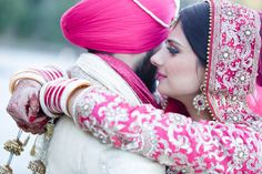 Revina + Shaminder - Stylish Punjabi Wedding in Sydney - Wedding day photo shoot - Wedding day style - wedding ceremony - gurdwara - Indian bride - Indian groom - Indian wedding - Sikh wedding - Sikh bride - Sikh groom - Punjabi wedding - Punjabi bride - Punjabi groom - hot pink wedding anarkali - heavy wedding anarkali. Read more at www.thecrimsonbride.com! #thecrimsonbride