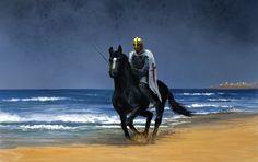 Templar Knight on horse by PixelFarmer