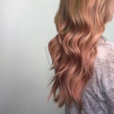 123 Likes, 18 Comments - Hairstylist Hair Colours, Red Hair Color, Cool Hair Color, Colors, Rose Gold Hair, Pink Hair, Rose Blonde, Hair Trends, Hair Goals