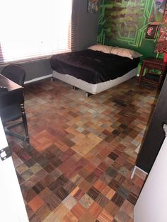 A jigsaw puzzle floor by from prowood flooring its not just clever awesome diy floor done with laminate samples from home depot solutioingenieria Gallery