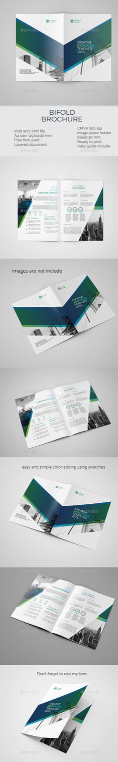 corporate bifold brochure template — InDesign INDD #service #letter • Available here → https://graphicriver.net/item/corporate-bifold-brochure-template/19158551?ref=pxcr