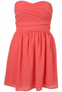 Coral dress. Would be cute for spring with some sandals and a cardigan! :)